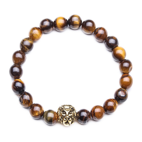 Lion Bracelet // Lava Stone // Brown