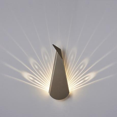 Aluminium Peacock LED Light // Gold (Plug)