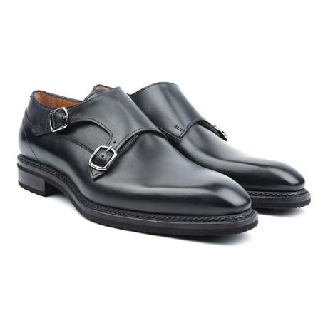 Amberes Classic Double Monkstrap // Black