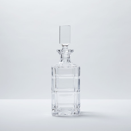 Squares Fine Crystal Decanter