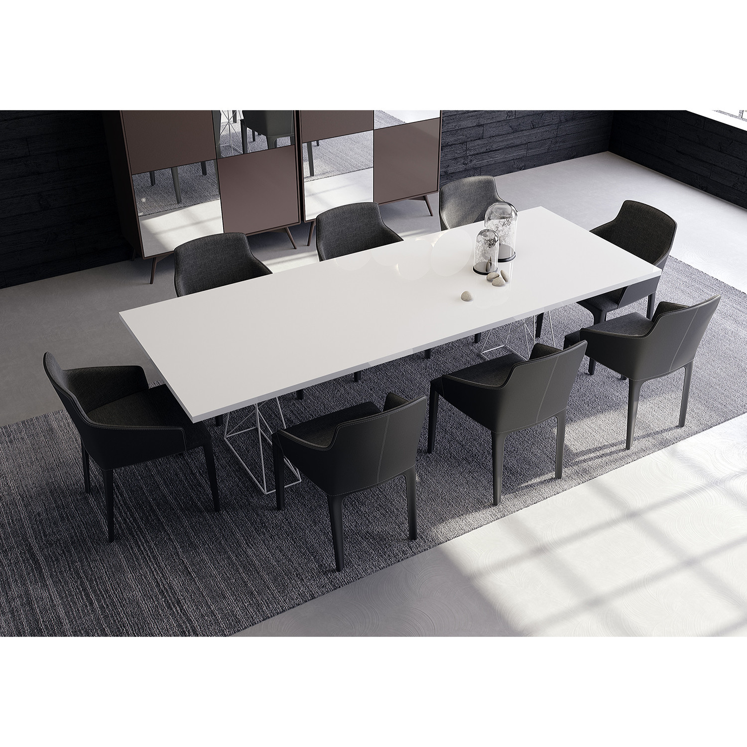 Curzon Dining Table White Lacquer Small 87 Quot L X 39 Quot W X