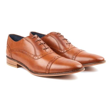Plain Toe Oxfords // Tan