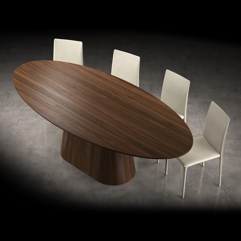 Sullivan Dining Table Walnut Modloft Living Touch Of