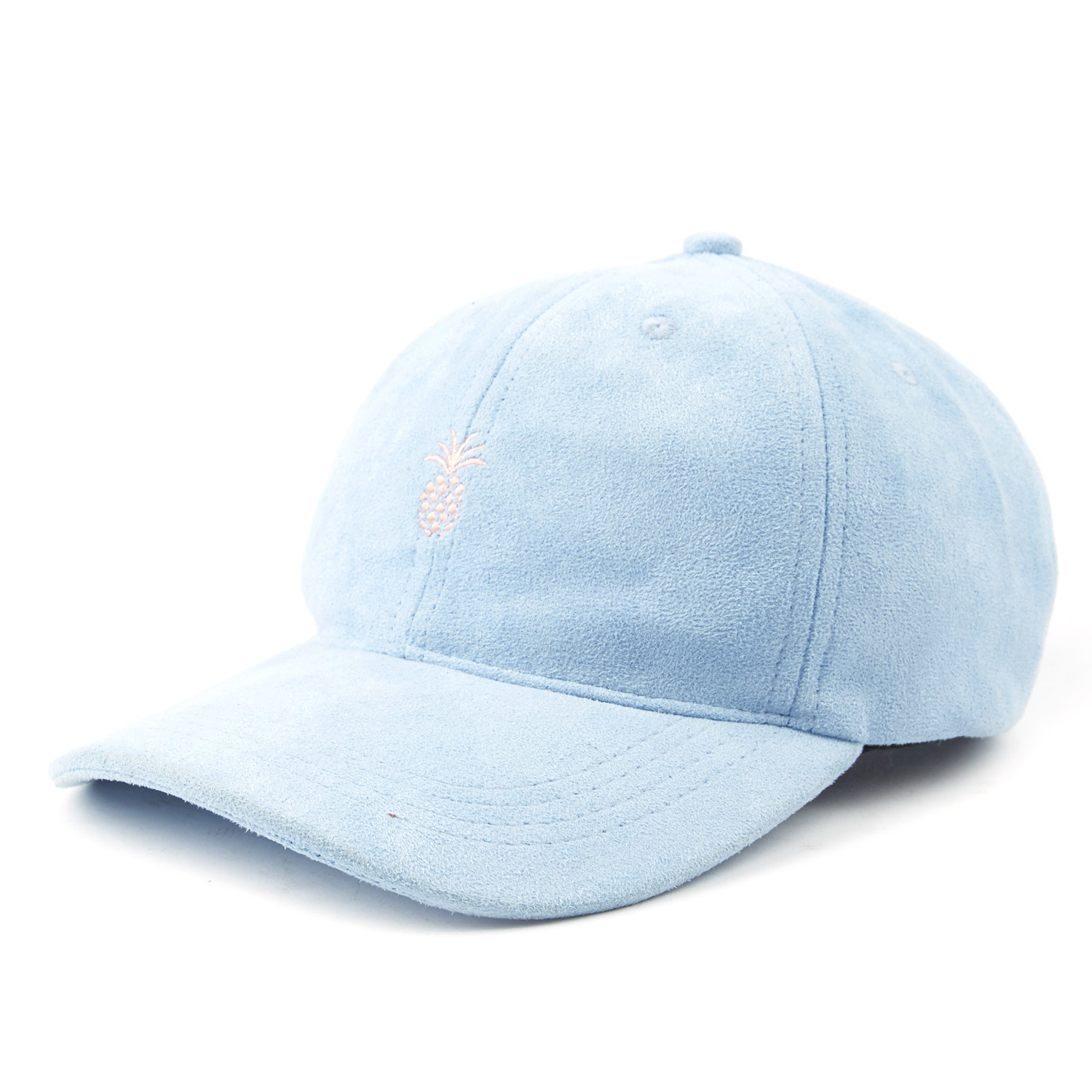 Pineapple Suede Dad Hat Baby Blue Qilo Nyc Fashion