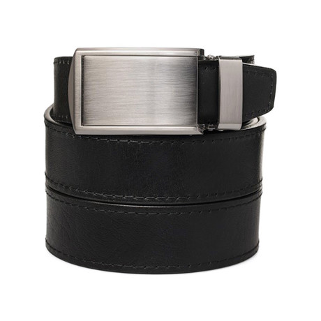 Top Grain (Top Grain Black + Silver Buckle)