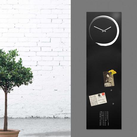 S-Enso Clock Board // Vertical (Black)