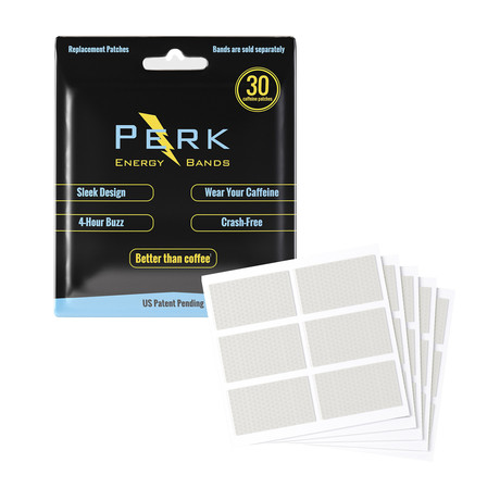 Perk Caffeine Patches // Pack of 30