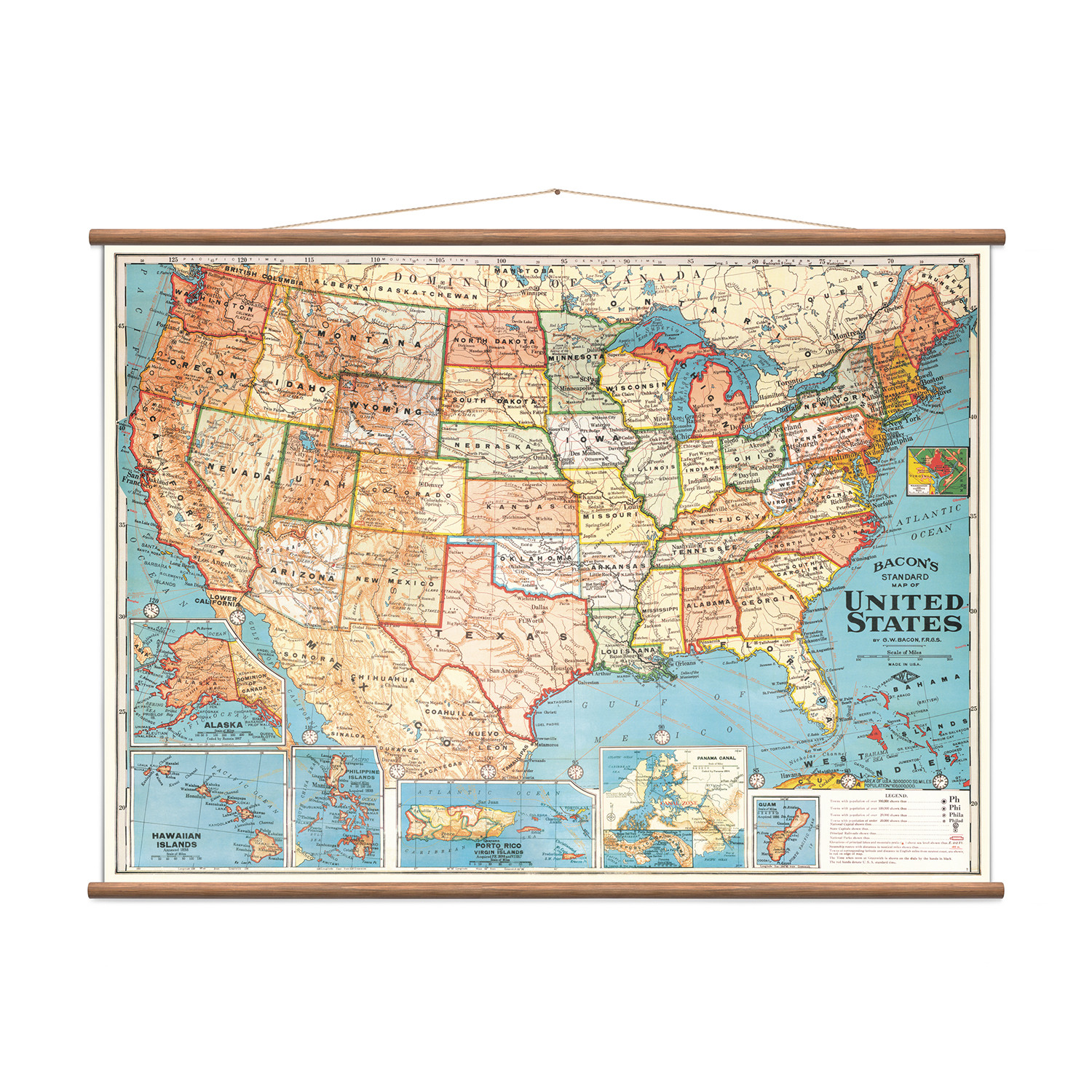 United States - Vintage Educational Charts - Touch of Modern