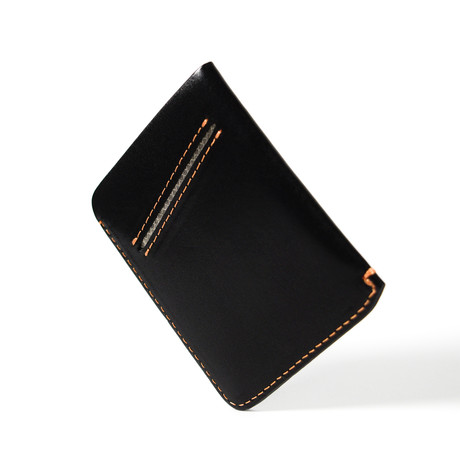 Vinco Half Wallet // Jet Black