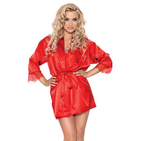 Nina Satin Kimono // Red