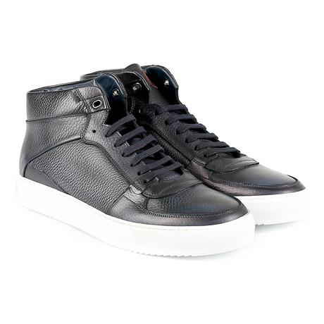 Rimini Suede High-Top Sneaker // Navy
