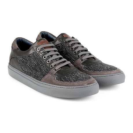 Venice Suede Low-Top Sneaker // Brown + Black