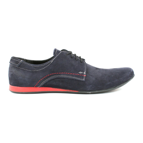 Contrast Sole Sneaker Derby // Navy