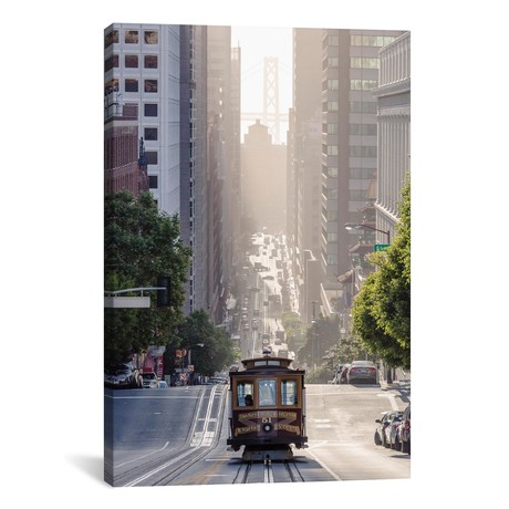"Cable Car, San Francisco, California // Matteo Colombo (18""W x 26""H x 0.75""D)"