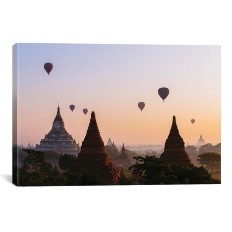 Hot Air Balloon Tours At Sunrise, Bagan Archaeological Zone, Myanmar