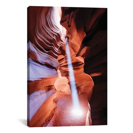 "Light Beam, The Crack, Antelope Canyon, Arizona // Matteo Colombo (18""W x 26""H x 0.75""D)"