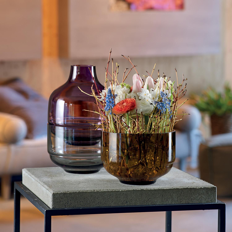 fusione 3 piece vase lilac leonardo touch of modern. Black Bedroom Furniture Sets. Home Design Ideas