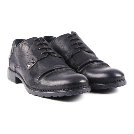 Kolpino Cap-Toe Oxford // Bandolero Black