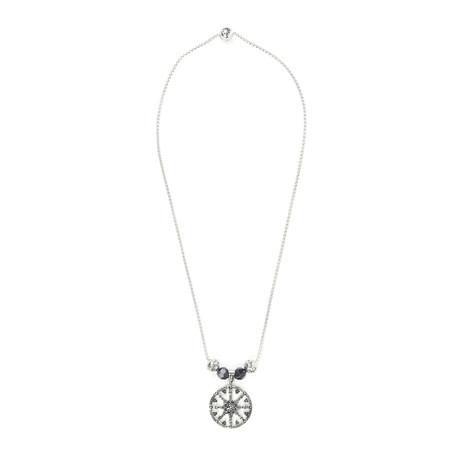 Black Onyx Wheel Necklace