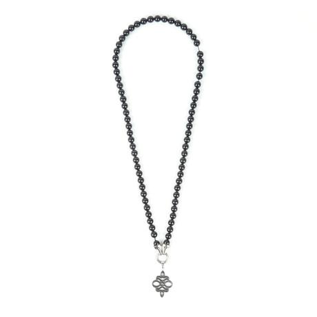 Pendant Onyx Bead Necklace
