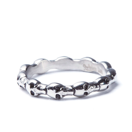 Stainless Steel Skull Eternity Ring