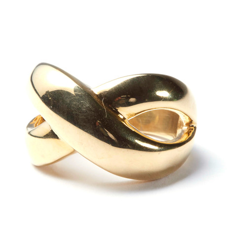 Gold Stainless Steel X Ring