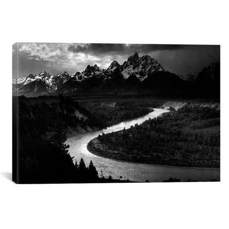 "The Tetons // Snake River // Ansel Adams (26""W x 18""H x 0.75""D)"