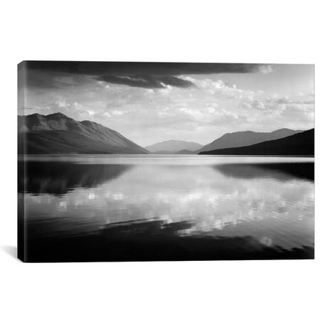 """Evening, McDonald Lake, Glacier National Park (26""""W x 18""""H x 0.75""""D)"""