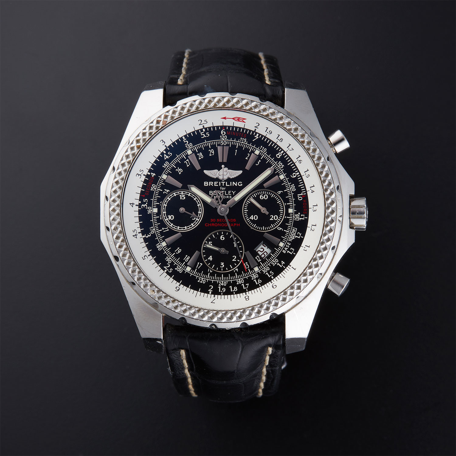 wow bentley special edition black breitling dial classic watch topnotch