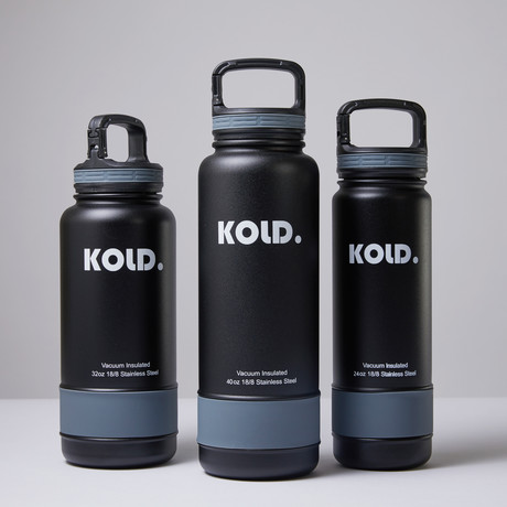 Insulated Water Bottle + Colored Sleeve Set