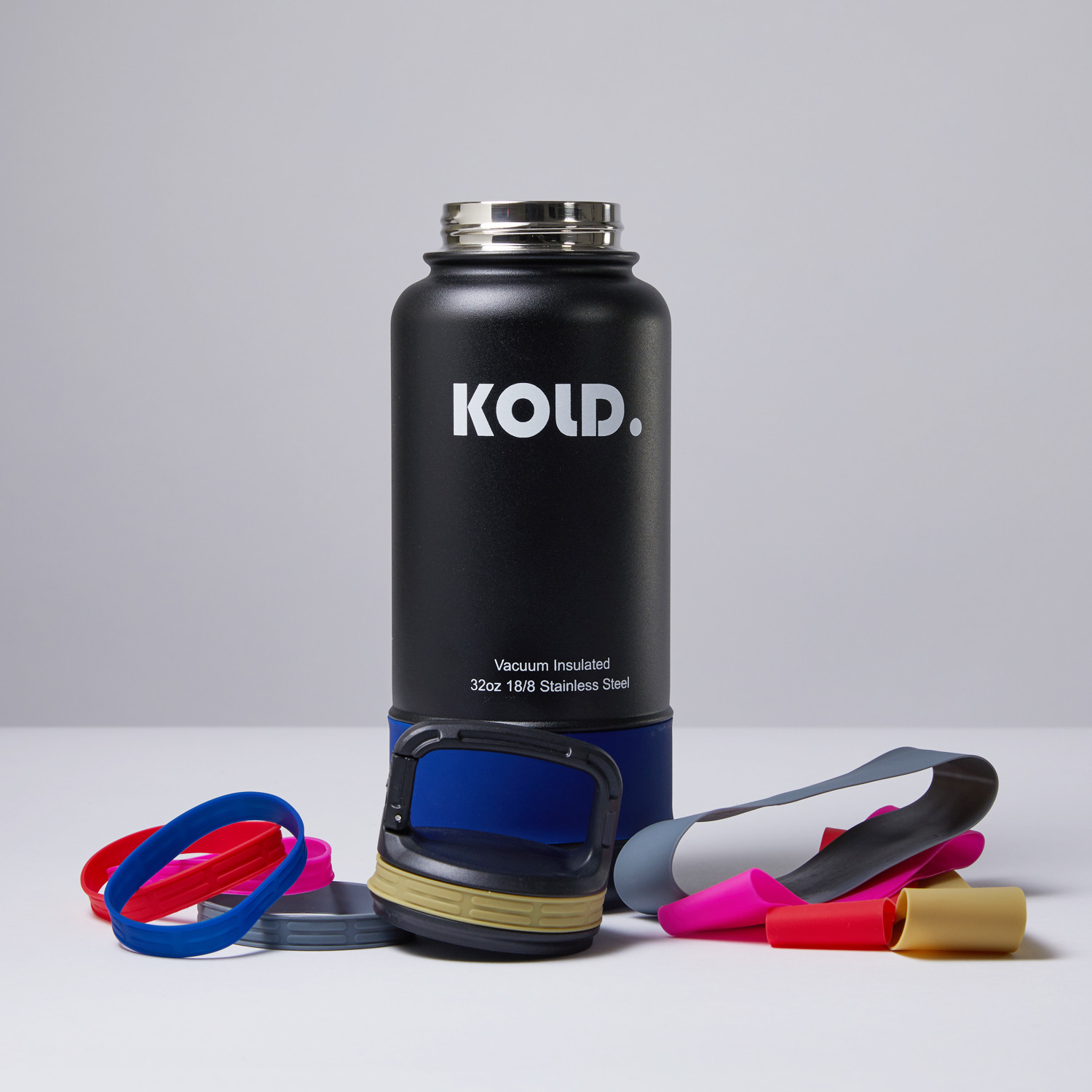 Water Bottle Set: Insulated Water Bottle + Colored Sleeve Set (24oz)