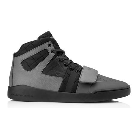 Manzo High-Top Sneaker // Grey + Smoke + Charcoal