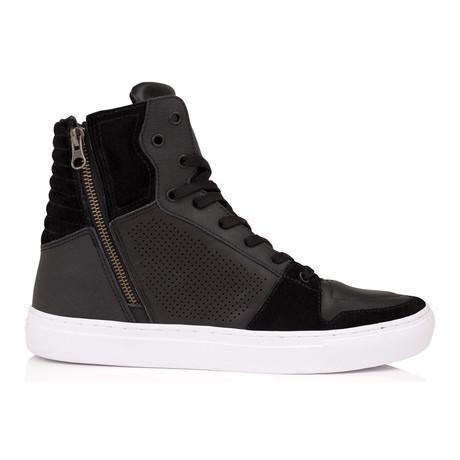 Adonis Zip Lace Sneaker // Black
