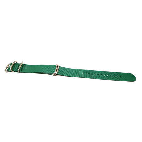 DaLuca Ballistic Nylon NATO Watch Strap // Green + Matte Buckle