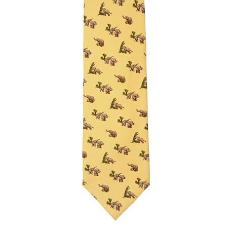 E. Marinella // Silk Tie // Yellow Elephants
