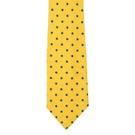 E. Marinella // Silk Tie // Yellow + Green Dot
