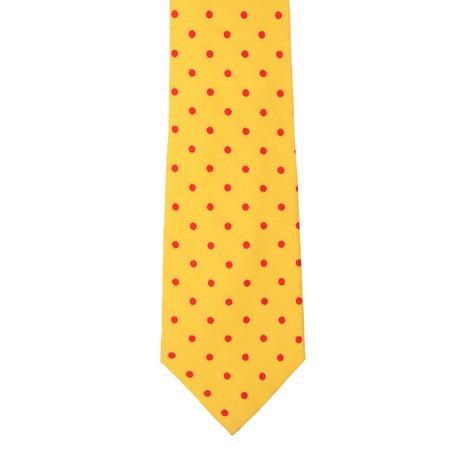 E. Marinella // Silk Tie // Yellow + Red Dot