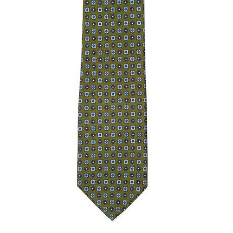 E. Marinella // Silk Tie // Green Floral