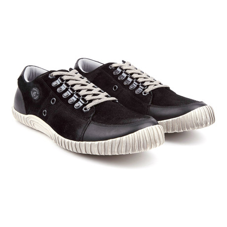 Lucky Dog Low-Top Leather Sneaker // Black