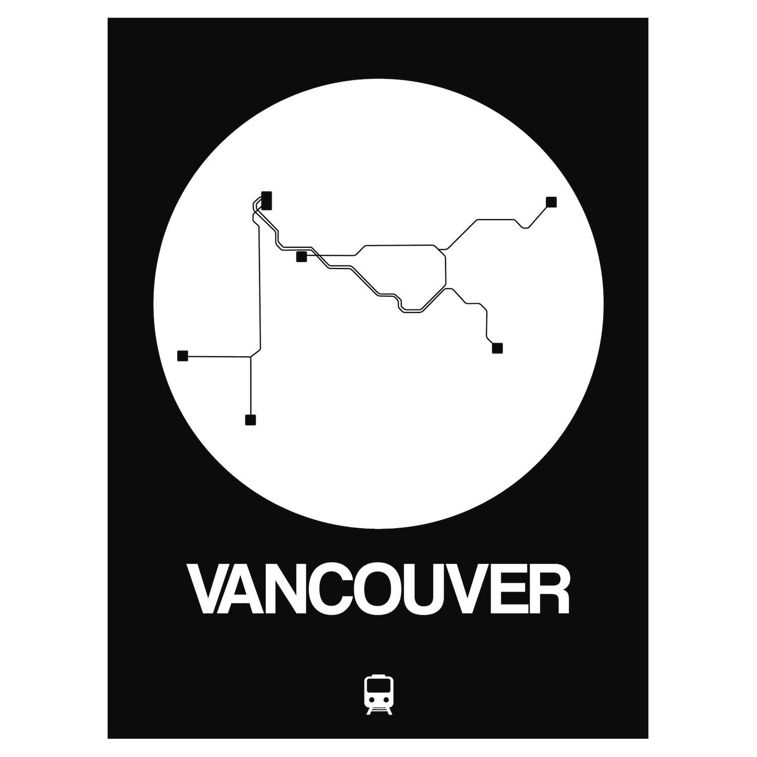 Vancouver Subway Map.Vancouver Subway Map Orange Subway City Maps Touch Of Modern