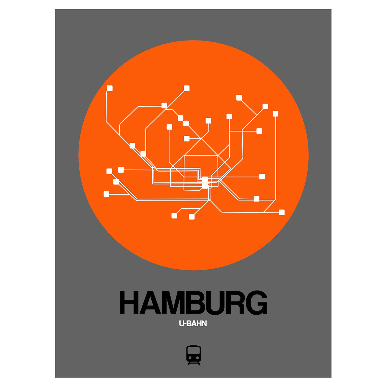 Hamburg Subway Map.Hamburg Subway Map Black Subway City Maps Touch Of Modern