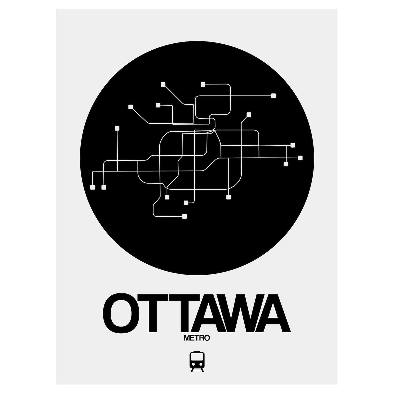 Black And White Subway Map.Ottawa Subway Map Black Subway City Maps Touch Of Modern
