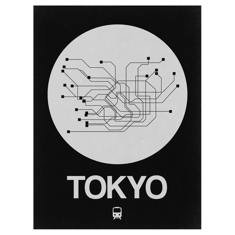 Tokyo Subway Map Framed.Tokyo Subway Map Black Subway City Maps Touch Of Modern
