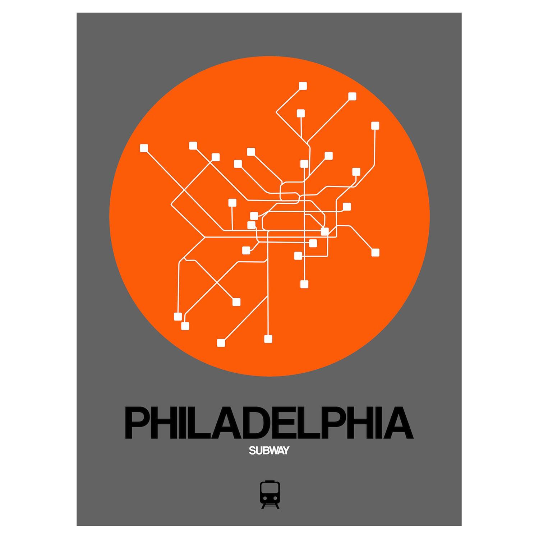 Phila Subway Map.Philadelphia Subway Map Orange Subway City Maps Touch Of Modern