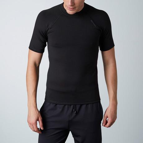 Top V Warm Line Shirt // Black