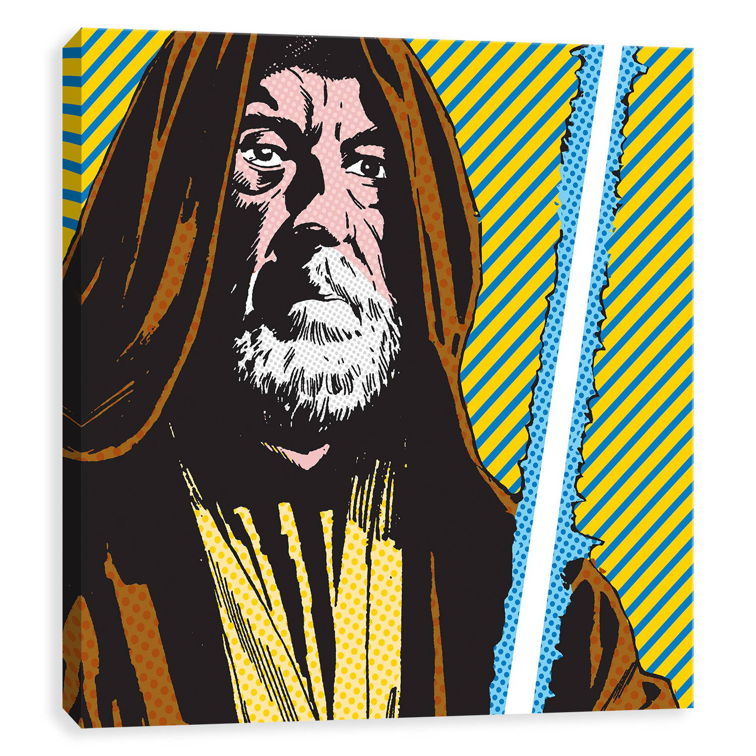 Star wars pop art obi wan one with the force 16