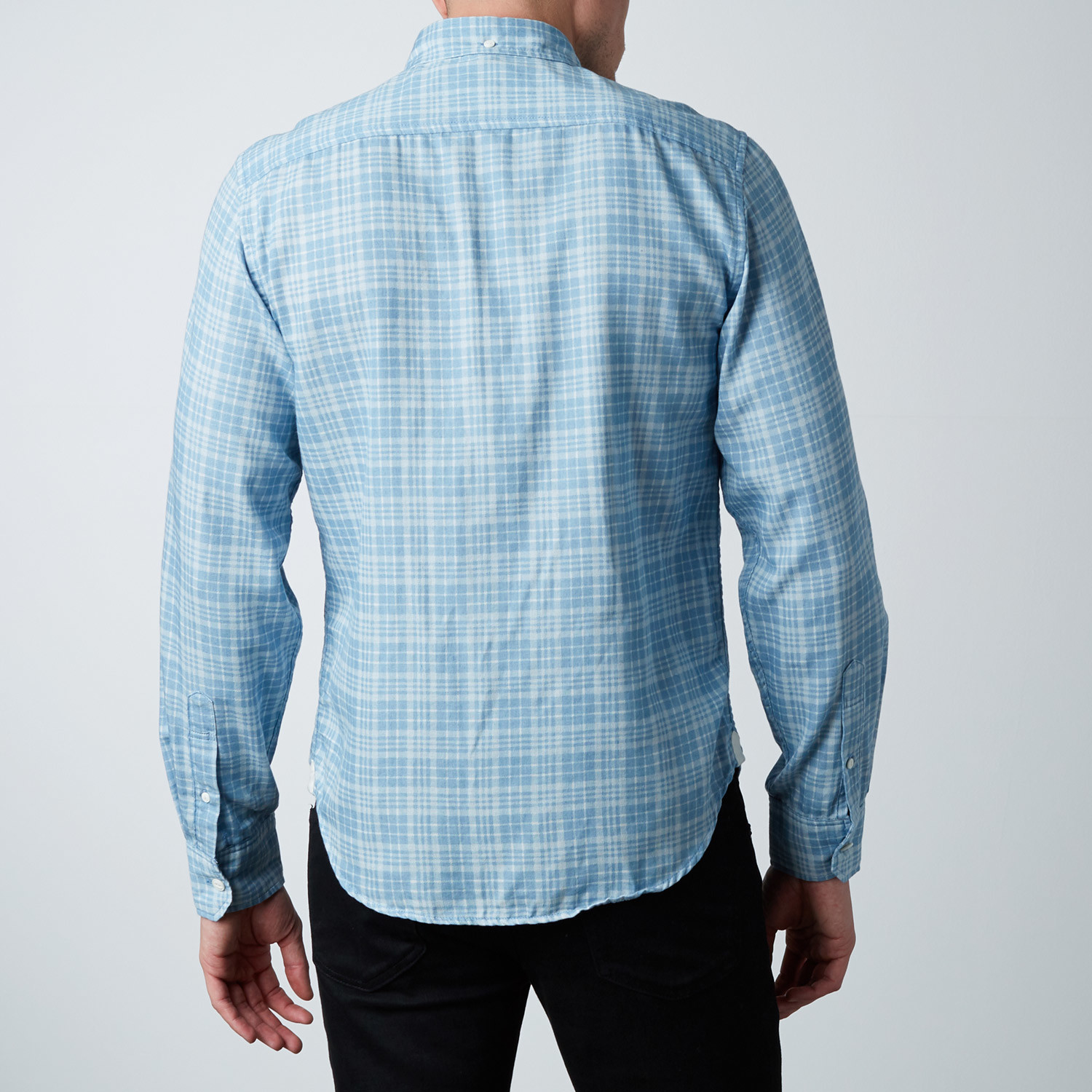 Plaid Dress Shirt Blue S Barque New York Touch Of