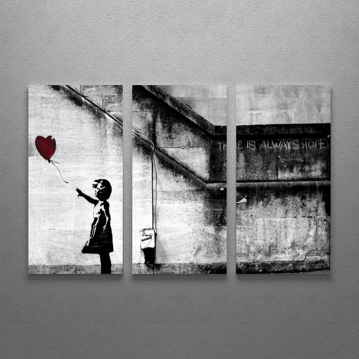 banksy contemporary essay girl with balloons Girl with a balloon by banksy is printed with premium inks for brilliant color and then hand-stretched over museum quality stretcher bars 60-day money back guarantee.