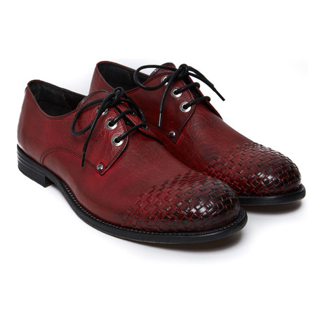 Cap-Toe Derby // Red