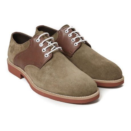 Plain Derby // Taupe + Dark Brown